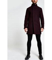 mens jack and jones burgundy wool coat