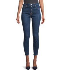 7 for all mankind women's high-rise ankle skinny jeans - fletcher - size 31 (10)