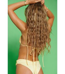 hanna schönberg x na-kd återvunnen bikinitopp med rynkdetalj - yellow