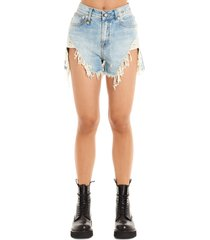 r13 shedded slouch shorts