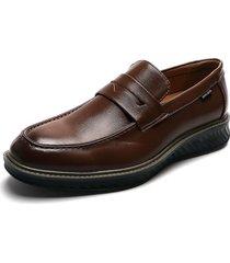 zapato casual mocasin marrón pierre cardin pc8663-b