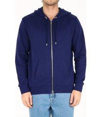 balmain cotton hoodie blue