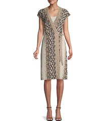 bethwyn snake-print wrap dress