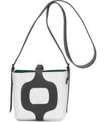 bolsa feminina couro bucket rio - off white