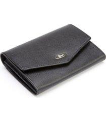 royce rfid blocking luxury french purse wallet in saffiano genuine leather
