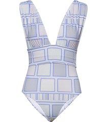 alvina swimsuit baddräkt badkläder blå by malina