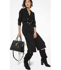 mk tuta trench in cr��pe - nero (nero) - michael kors