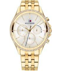 reloj tommy hilfiger 1781977 dorado -superbrands