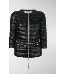 herno 3/4 sleeves padded jacket