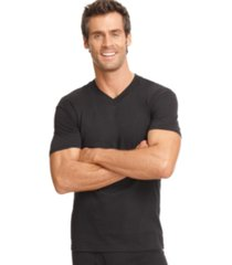 alfani men's undershirt, tagless v-neck 4 pack