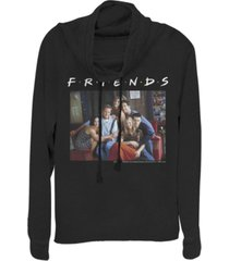 fifth sun friends central perk couch group portrait cowl neck women's pullover fleece