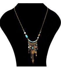 collana pendente ciondolo bohemien catena frecce collana con ciondoli maglione nappe etniche per le donne