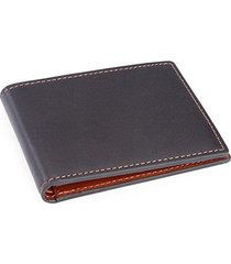 100 step rfid-blocking leather bi-fold wallet