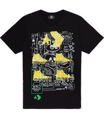 converse camiseta de manga corta graffiti robot