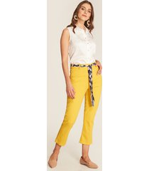 pantalón capri amarillo amarillo 6