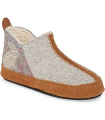 women's acorn 'forest' bootie slipper, size x-large - grey