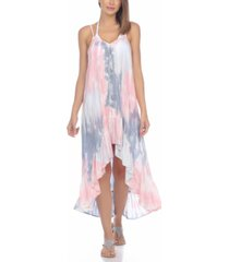 raviya tie-dye crochet-trim high-low cover-up dress women's swimsuit