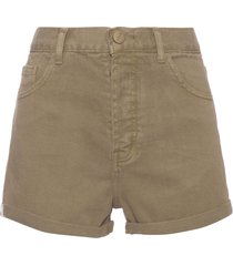 shorts feminino sarja toscana - verde