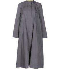 aalto round neck oversized coat - grey