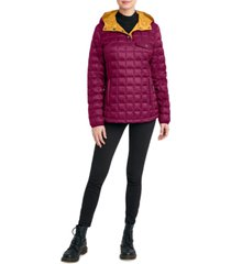 hfx hooded pullover packable puffer coat