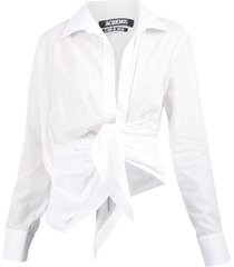 jacquemus knotted shirt