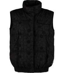 moncler sash floral embroidered bodywarmer