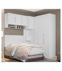 quarto modulado solteiro modena demóbile 7 portas 3 gavetas branco