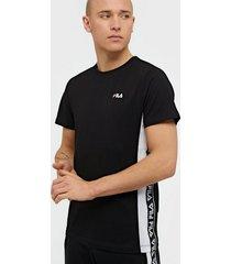 fila men tobal tee t-shirts & linnen black/white