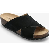 biabetty cross sandal shoes summer shoes flat sandals svart bianco