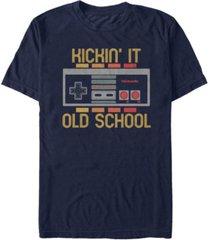 nintendo men's classic nes kickin it old school controller t-shirt