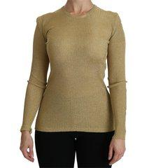 crew neck long sleeve top viscose blouse