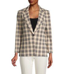 bailey 44 women's emerson plaid jacket - beige multi - size 10