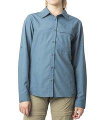 blusa outdoor manga ajustable azul kannú