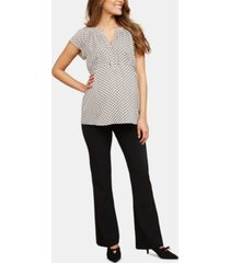 motherhood maternity the zelie secret fit belly flare leg pants