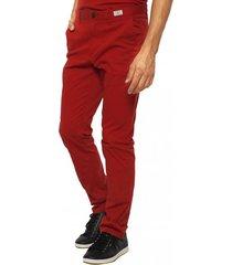 pantalón chino algodón orgánico rojo tommy hilfiger