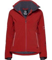 the brilliant jacket w outerwear sport jackets rood salomon
