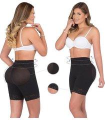 fajas para mujer silicona panty short fajas lady - negro