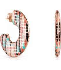 aretes tous tartan de plata vermeil rosa 918563530