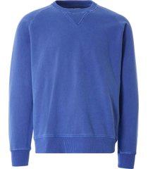 nigel cabourn embroidered arrow crew sweatshirt | washed blue | ncj-54 blu