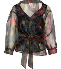 milou blouse lange mouwen multi/patroon baum und pferdgarten