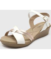 sandalia blanco  via uno