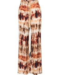 nanushka giado belted wide-leg trousers - multicolour