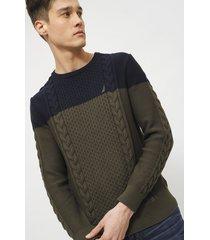 sweater nautica multicolor - calce regular