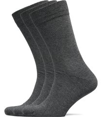 slh3-pack cotton sock underwear socks regular socks grå selected homme