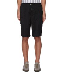 drawcord waist side pocket wool blend shorts