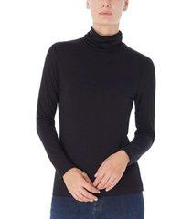 jones new york women's long shirred neck pullover top