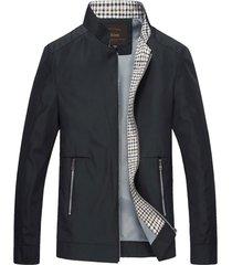chaqueta casual hombre cremallera 961 negro
