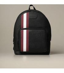 bally backpack sarkis bally backpack in synthetic leather with trainspotting canvas band