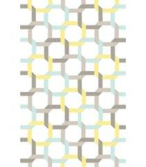 martha stewart collection color chain msr4563c azure 4' x 6' area rug