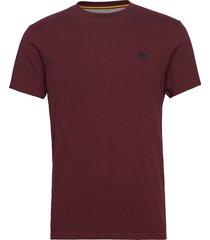 ss dun-river crew t t-shirts short-sleeved röd timberland